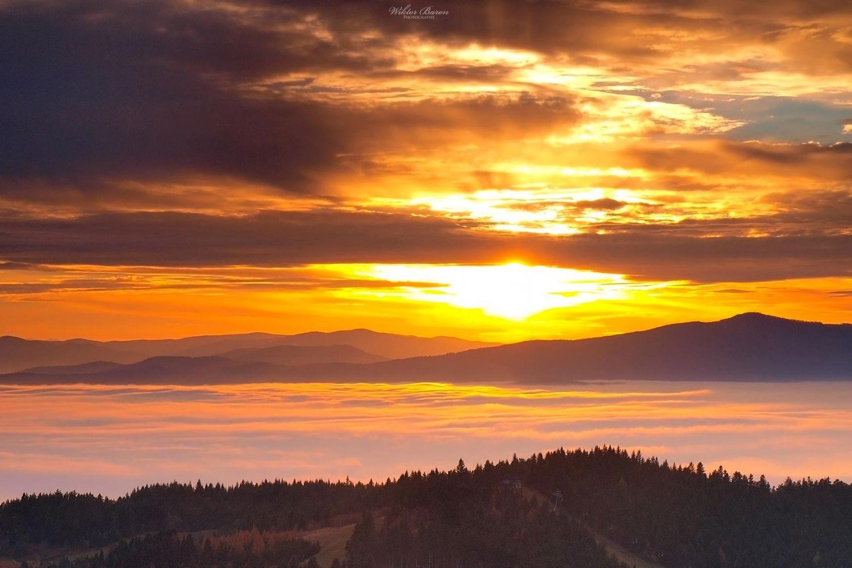 Załasz Zachodni zachód słońca