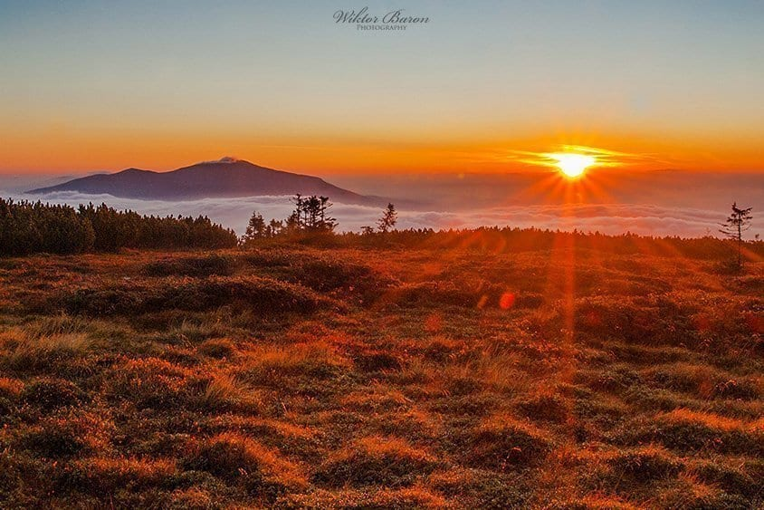 Pilsko wschód słońca
