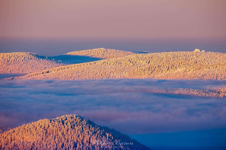 Góry Izerskie widok z Szrenicy w Karkonoszach