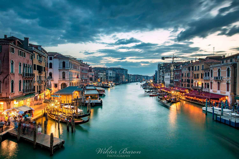 Wenecja widok z mostu rialto