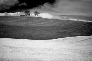 Łąki i pola w Górach Choczńskich na Słowacji