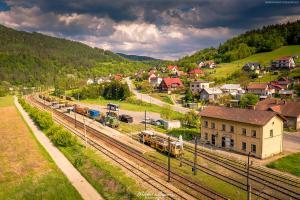 Stacja kolejowa w Piwnicznej - Beskid Sadecki