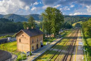 Stacja kolejowa w Żegiestowie - Beskid Sadecki