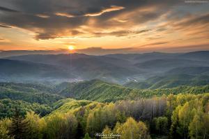 Zachod słońca na Koziarzu - Beskid Sadecki