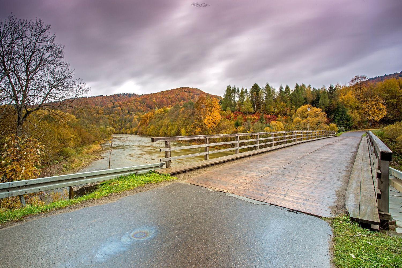 Drewniany most na Sanie