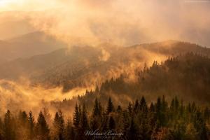 Jesienne mgły w Gorcach