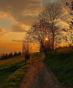 Zachód Słońca w Gorcach