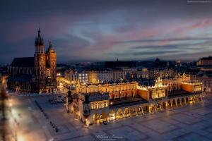 Kraków - Rynek z lotu ptaka