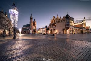 Kraków - Sukiennice i Kościół Mariacki