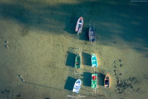 Łódki na Jeziorze  Śniardwy