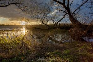 Zachód słońca nad Jeziorem Niegocin
