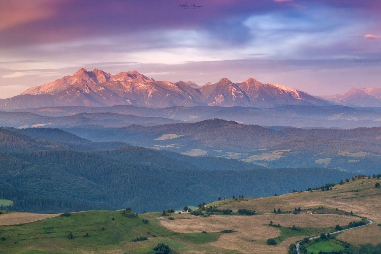 Panorama Tatr z Wysokiego Wierchu
