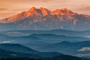 Tatry widok z Pienin