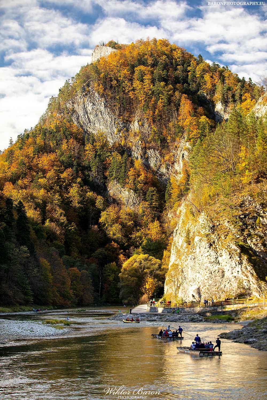 Widok na Sokolicę z Przełomu Dunajca