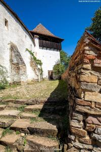 Zabudowania w kościele warownym Viscri