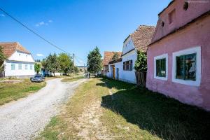 Zabudowania wsi Viscri w Transylwanii