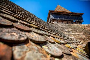Baszta kościoła warownego w Viscri