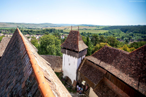 Widok z wieży kościelnego w Vscri