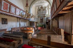 Wnętrze kościoła warownego w Viscri