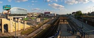 Panorama dworca w Poznaniu